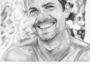 dessin personnages acteur paul walker fast and furious automobile : Paul Walker